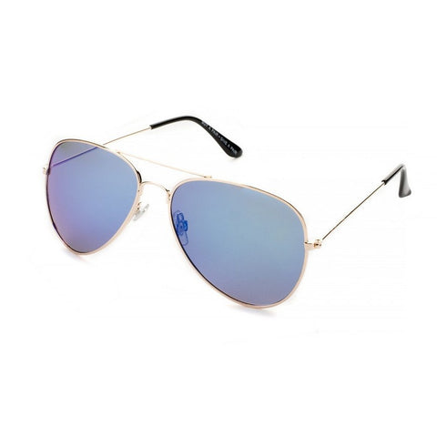 Blue Planet Recycled Aviator Sunglasses Wright Blue