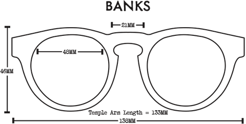 Proof Banks Sunglasses Dimensions