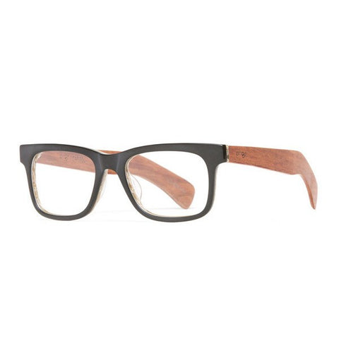 Proof Capitol Matte Black RX Wood Frame Glasses