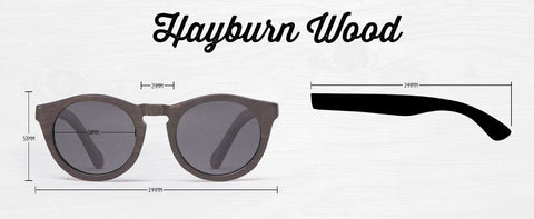 Proof Hayburn Red Bamboo Sunglasses Dimensions