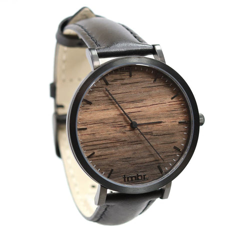 TMBR Helm Wood Watch Sandalwood Front