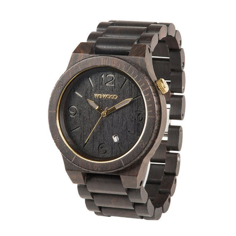WeWood Watch Alpha Black Gold