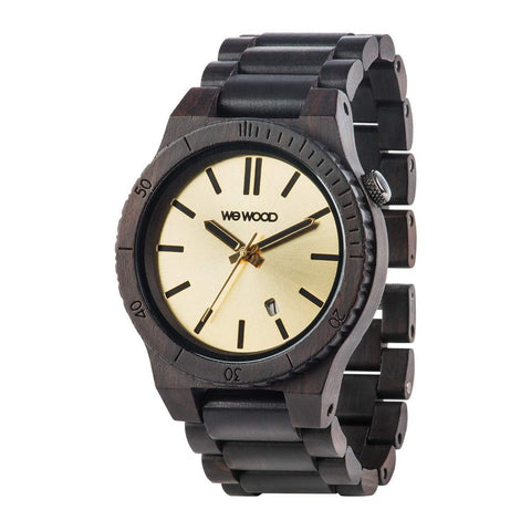 WeWood Watch Arrow Black Gold Angle