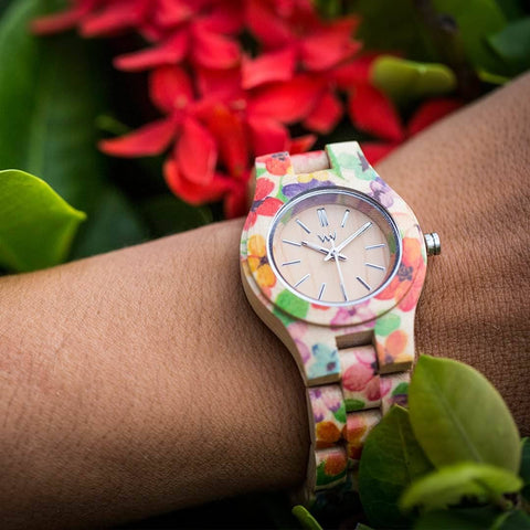 WeWood Criss Flower Watch Worn By Woman