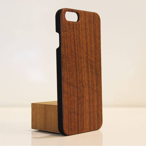 Wood iPhone 6 Cover Walnut upright