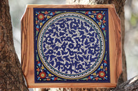 Olive Wood Decorative Ceramic Trivet