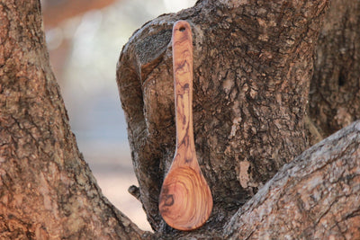 Hand Crafted Olive Wood Spoon - Aelia Farms