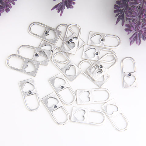 Silver Padlock Charms, Love Lock Charms, Lock Pendants, 8 pieces // SCh-251