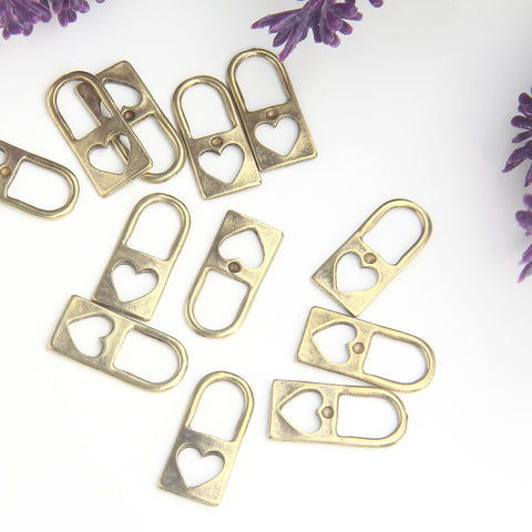 Bronze Padlock Charms, Love Lock Charms, Lock Pendants, 8 pieces // ABCh-056
