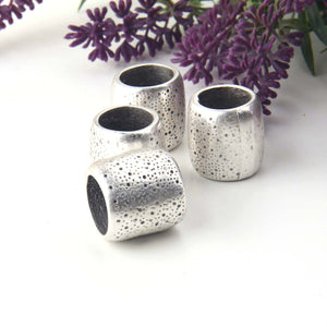 Silver Chunky Slider Bead, Large Tube Bead, Large Hole Beads, Large Spacer Bead, 1 piece // SB-168
