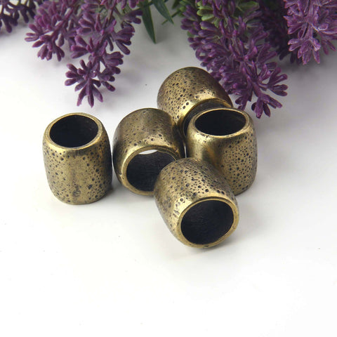 Bronze Chunky Slider Bead, Large Tube Bead, Large Hole Beads, Large Spacer Bead, 1 piece // ABB-045