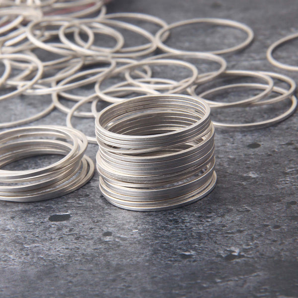 Round Ring Link, Circle Connectors, Thin Circle Rings, 10 pieces // SC-267