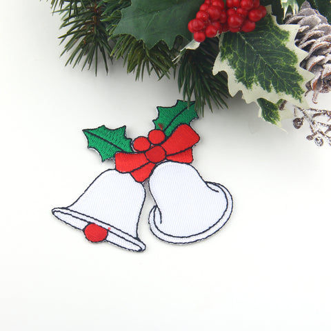 Christmas Bell Applique Patch, Iron-on Patch, Hanging Bell Patch, Xmas Bell, Applique, 1 piece