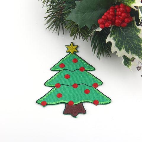 Christmas Tree Applique Patch, Iron-on Patch, Xmas Tree Patch, Xmas Tree Applique, 1 piece