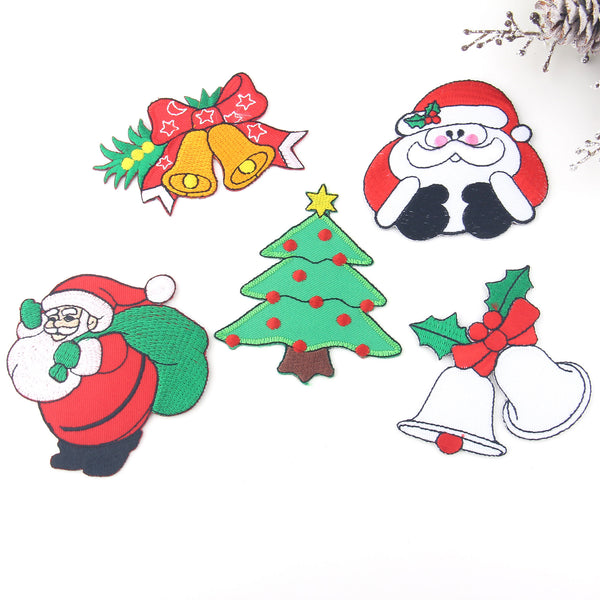 Christmas Applique Patch, Iron-on Patch, Christmas Patch, Santa Claus Applique, Santa Patch, 1 piece