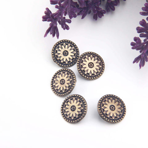 Bronze Bracelet Buttons, Wrap Bracelet Buttons, Wrap Bracelet Closures, Bronze Buttons, 3 pieces // ABF-028