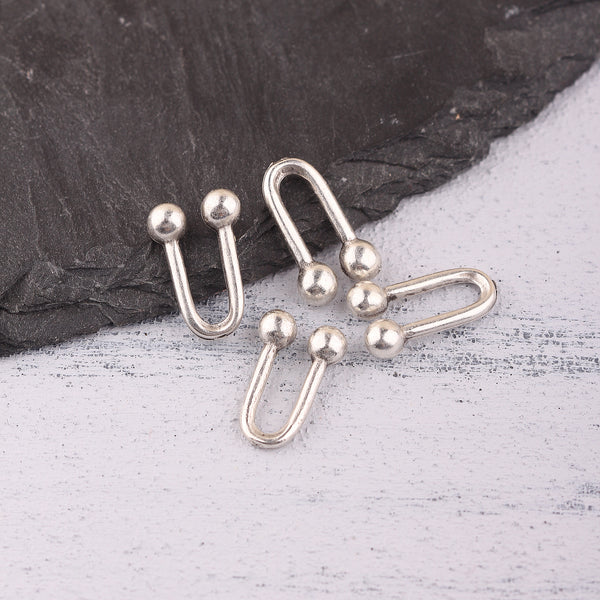 Silver U links, Links for Chain, U link Chain, Make Your Own U Link Chains, 4 pieces // SC-275