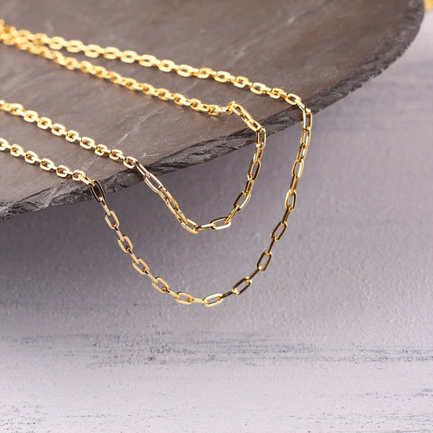 Shiny Gold Plated Oval Link Chain, Chain Supplies, Necklace Chain, Chunky Chain, 1 meter / GChn-041