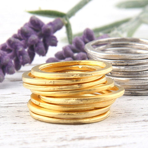 Large Closed Jump Rings, Circle Links, Large Loops, Circle Loop Ring, 22k Matte Gold Plated, 21-22mm, 8 pieces // GC-435