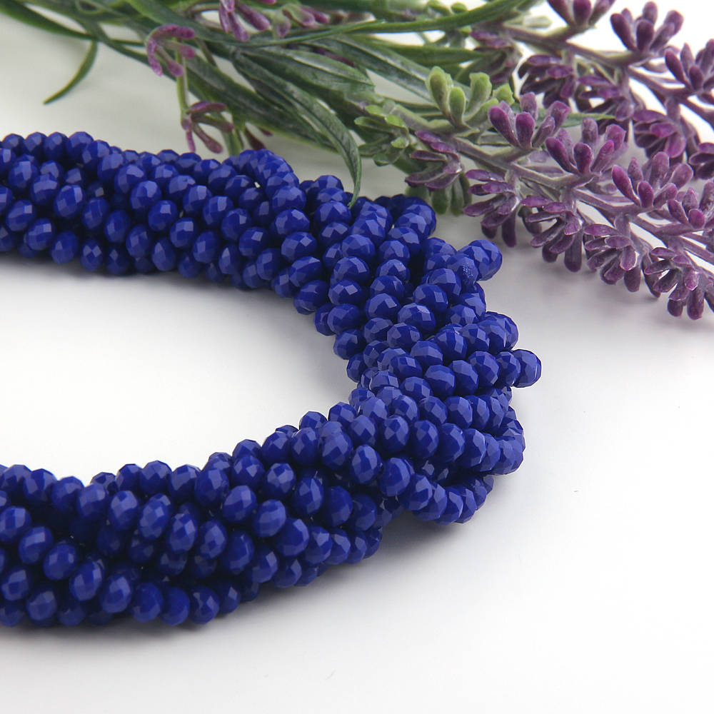 SALE, Royal Blue, Faceted  Rondelle Chinese Crystal Beads, Crystal Rondelle Beads, 1 strand-135 pcs // BD-066
