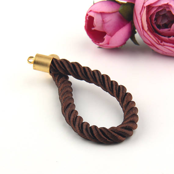 SALE, Brown, Blank Bracelet Cord, Ready to Make Bracelet, Add-on Bracelet Cord, Twisted Cord,  1 piece // CRD-033