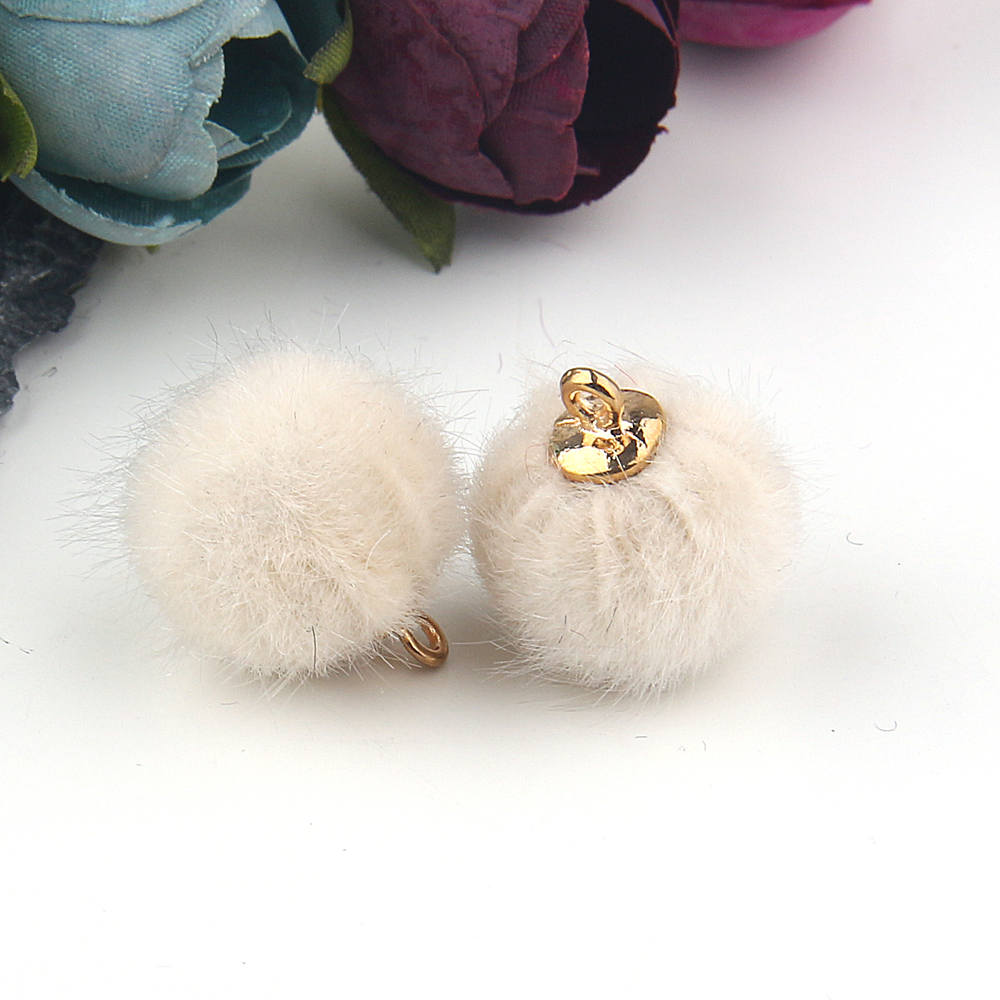 SALE, PomPom Bead Charms, Earring Pompoms, Gift Wrapping Charms, Faux Fur Charms, Hat PomPoms, Fur Ball Charms,