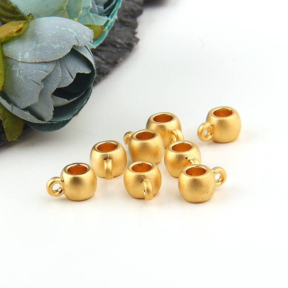 Gold Pendant Bails / Gold Bails / Scarf Bails / Charm Bails / Pendant Holder / Cord Holders, 8 pieces // GF-168