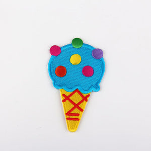 SALE, Ice Cream Applique, High Quality Iron-on Applique, Iron-on Patch, Emroidered Iron-on Applique, 1 Piece