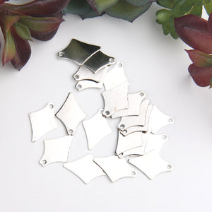Silver, Raw Brass Laser Cut Charms, Spike Charms, Tribal Charms, 20 pcs // SCh-172