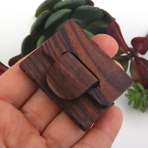1 Handcrafted Wooden  Buckle Clasp, Multi strand Wooden Clasp, 37.50x49mm