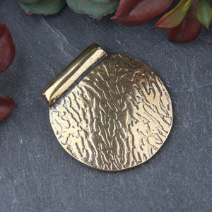 Antique Bronze Textured Semi Circle Bail Pendant, Half Round Pendant, 1 piece // ABP-131
