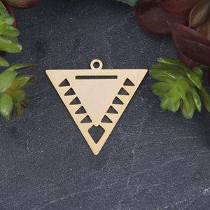 Triangle Gold Pendant For Miyuki Beading, Miyuki Bead Pendant, 1 piece // GP-669