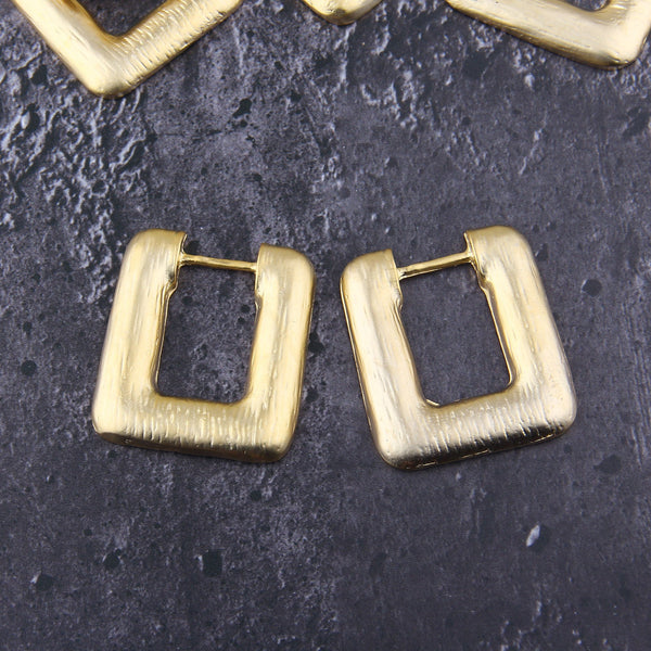 Square Earring Pendants, Textured Earring Components, Focal Earring, 37x41 mm, 2 pcs // GP-685