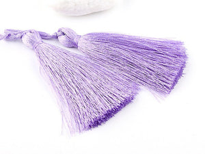 Lilac, Silk Thread Tassels, 2 pieces - Jewelry Supplies  // TAS-016