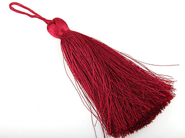 Red Wine, Large and Thick Silk Tassel- Jewelry Supplies  // TAS-020