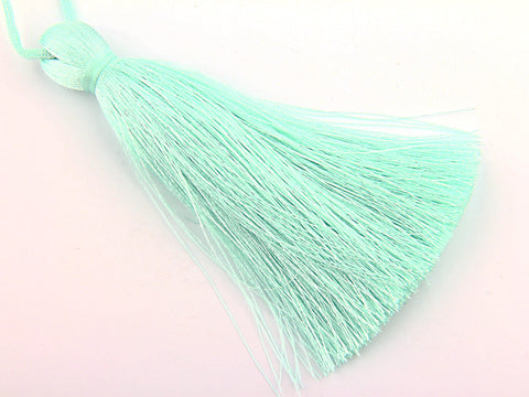 Aqua, Large and Thick Silk Tassel- Jewelry Supplies  // TAS-020
