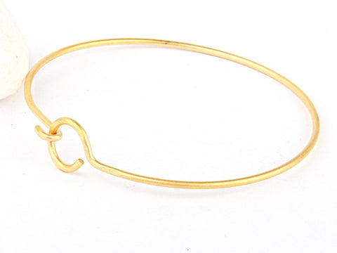 Bangle Bracelet Bar, Gold Cuff Bangle, Cuff Bracelet, Gold Plated, 1 piece // GFND-077