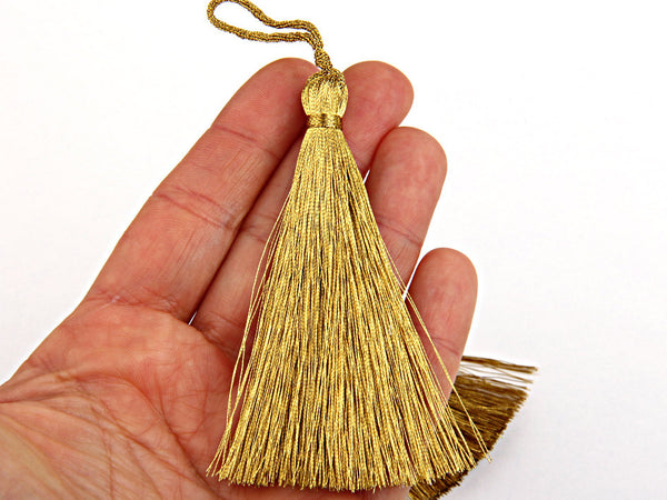 Dark Metallic Gold, Large and Thick Tassel- Jewelry Supplies  // TAS-020