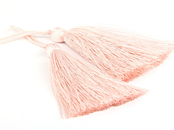 Pearl, Silk Thread Tassels, 2 pieces - Jewelry Supplies  // TAS-016