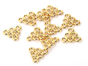 Mini Triangle Connector Link, Shiny Gold Plated, 10 pieces //GC-362