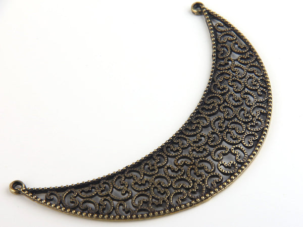 Antique Bronze Large Fretwork Collar Pendant, Neck Pendant, Collar Necklace, 1 piece // ABP-059