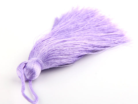 Lavender, Large and Thick Silk Tassel- Jewelry Supplies  // TAS-020