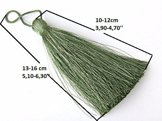 White, Large and Thick Silk Tassel- Jewelry Supplies  // TAS-020