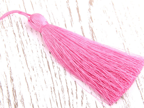Begonia Pink, Large and Thick Silk Tassel- Jewelry Supplies  // TAS-020