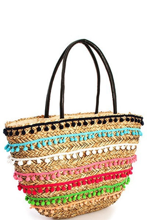 Cammie Straw Tote