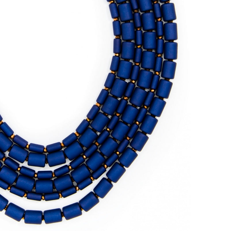 Leslie Beaded Bib Necklace