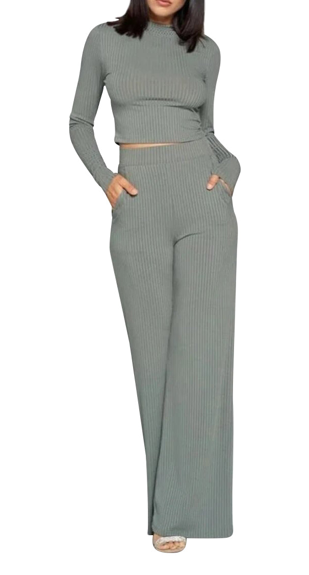 Anessa Ribbed Pants Set
