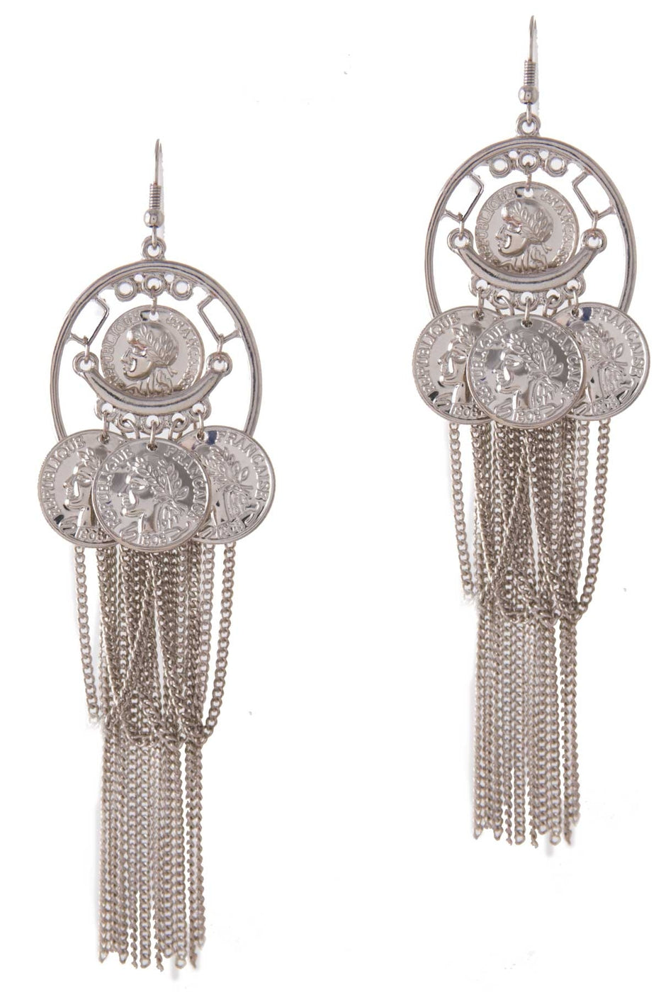 Tabitha Coin Chandelier Earrings