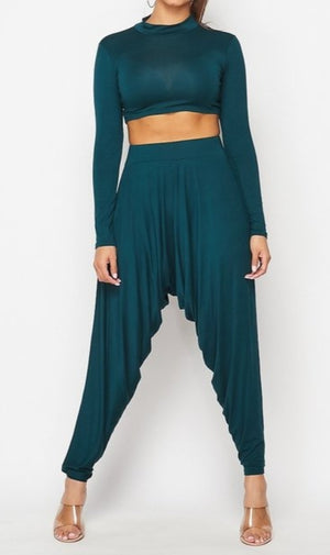 Latha Harem Pants Set