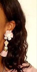 Lotus Flower Glam Earrings